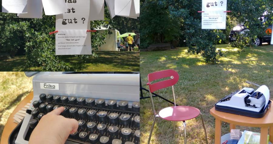 """Mit Sofa und Schreibmaschine zu """"Freilichtbühne tobt!"""""""